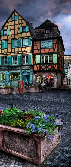Colmar, Alsace, France what a beautiful colors..