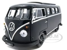 "1962 Vw Volkswagen Microbus Van ""black Bandit"" Diecast Car Model 1/18 Die Cast Car By Greenlight"