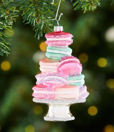 Shop for Trimsetter Santa Baby Collection Macaroon Tower Ornament at Dillard's. Visit Dillard's to find clothing, accessories, shoes, cosmetics & more. The Style of Your Life. Candy Land Christmas, Pink Christmas, Homemade Christmas, Christmas Tree Ornaments, Christmas Holidays, Christmas Decorations, Macaroon Cookies, Macaroons, Macaroon Tower