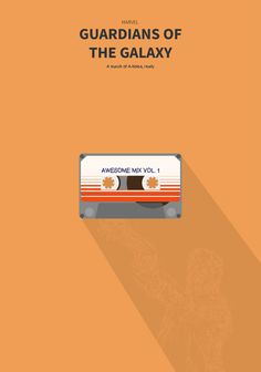 guardians of the galaxy. minimal movie poster.