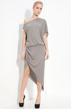 Helmut Lang asymmetrical jersey dress, @ Victoria, look I found my dress for the Grammys!!!