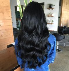 Gorgeous black thick long hair