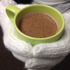 Hot Cocoa Warm Up. Dairy-free deliciousness!