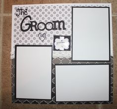 12 x 12 Wedding premade scrapbook layout titled The Groom/ getting ready by creationsbycindyg on Etsy
