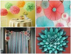 decoracao-com-papel-para-dia-das-criancas-capa-2 Paper Decorations, Birthday Party Decorations, Cute Small Drawings, Paper Flowers, Halloween, Handmade Gifts, Crafts, Diy, Flower Decoration