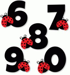 View Design #78501: ladybug numbers 6 7 8 9 0