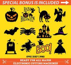 12 Halloween SVG Files Bundle, Halloween Die Cuts, Halloween svg files, Halloween cut files, Halloween PNG, Halloween cricut, Cameo