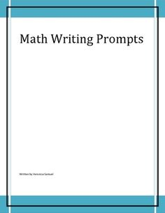 Math Writing Prompts is a collection of prompts that may be used with the smartboard notebook software.