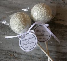 First Communion Favor Tags for cake pops, lollipops, cookies and party favors - 1.5 inch custom personalized Catholic party favor tags (30) on Etsy, $15.00