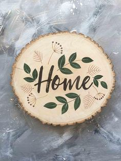 Home sign entryway decor home sweet home sign home decor wood slices wooden sign new home gift anniversary gift family name sign custom - Best Picture For diy clothes For Your Taste You are looking for something, and it is going to tel - Wood Slice Crafts, Wood Burning Crafts, Wood Burning Patterns, Wood Burning Art, Wooden Crafts, Driftwood Crafts, Diy Crafts, Large Wood Slices, Wooden Slices