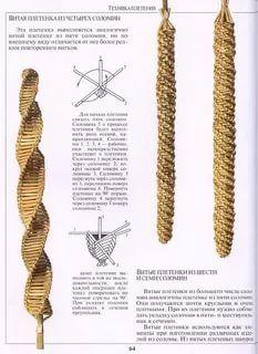 Straw Weaving, Weaving Art, Basket Weaving, Straw Art, Weaving Designs, Wool Thread, Creation Deco, Textiles, Kitchen Witch