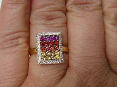 Bold Colors, All The Colors, Royal Engagement Rings, Sapphire Jewelry, Crown Jewels, Rainbow Colors, Birthstones, Gemstones, Gold