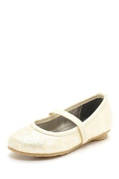 Laura Ashley Textured Ballerina Flat by Laura Ashley & Joseph Allen Shoes on @HauteLook