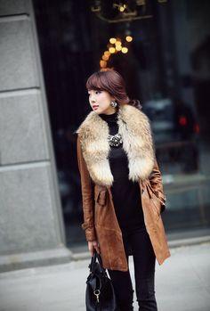 Fur Coat Raccoon Wool Collar Overcoat High Quality New Fashion Women Fur Coat with Raccoon Wool Collar Overcoat for Woman Lady Winter Warm Plus Size