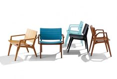 Available in three configurations, Maui Standard, Maui Integral and Maui Lounger. Outdoor Chairs, Outdoor Furniture Sets, Outdoor Decor, Mid-century Modern, Contemporary, Sit Back And Relax, Take A Seat, Mid Century Modern Design, Solid Oak