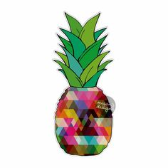 Pineapple Sticker - Colorful Geometric Car Decal Vinyl Bumper Sticker Laptop Decal Sticker Food Tropical Fruit Island Color Cute Wall Art