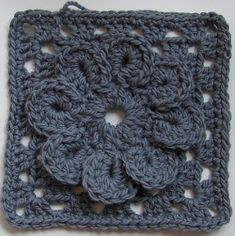 Pewter Flower Square