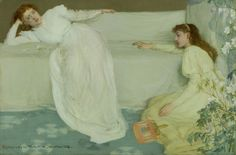 Symphony in White, No.3, 1865-7, oil on canvas, 51.4 x 76.9 cm - James Abbott McNeill Whistler (1834–1903, United States/England)