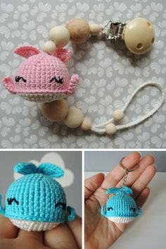 More ideas with Lovely Whales :) Crochet Baby Toys, Crochet Dolls, Cute Stuffed Animals, Baby Shower Gifts For Boys, Child Love, Happy Kids, Toddler Toys, Crafts, Handmade