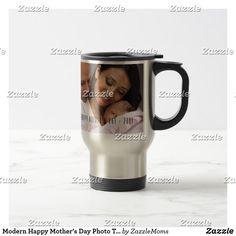 Modern Happy Mother's Day Photo Travel Mug  mothers day crafts for kids, mothers day preschool, mothers day cake, mothers day crafts for kids preschool,mothers day decor, mother's day entertaining, mother's day, mothers day,mothers day gift ideas, mother's day gifts, mothers day tshirts, mothers day tshirts gift ideas #momlife #mothersday #mother #motherhood #mothersdaygift #motherofthebride #tshirt #mothersdayidea #mugs