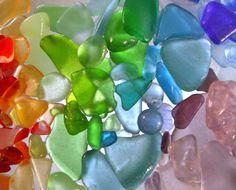 sea glass! Rainbow colors