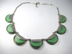 Jakob Bengel Designer Collier Art Deco Bakelit Halskette 30er Modernist *zN1