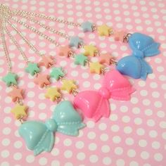 Hey, I found this really awesome Etsy listing at https://www.etsy.com/listing/158377362/kawaii-fairy-kei-lolita-pastel-star-bow