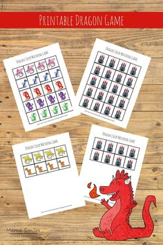 Top Ten Everyday Living Insurance Plan Misconceptions This Cute Printable Dragon Game For Kids Can Be Used For So Many Fun Games Go Fish, Color Matching, And Even As A Math Manipulative. Math Activities For Kids, Preschool Learning, Games For Kids, Teaching Kids, Educational Activities, Learning Games, Early Learning, Happy Mom, Happy Kids