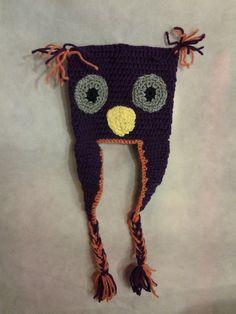 Crocheted Owl Hat by StitchesforSMA on Etsy, $6.00.