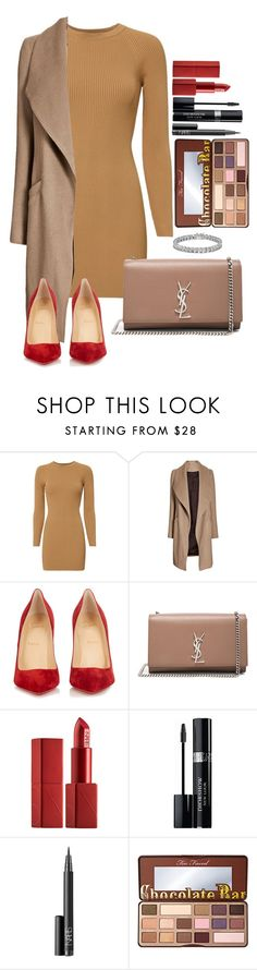 """Untitled #1684"" by fabianarveloc on Polyvore featuring A.L.C., Christian Louboutin, Yves Saint Laurent, NARS Cosmetics, Christian Dior, Too Faced Cosmetics and Apples & Figs"