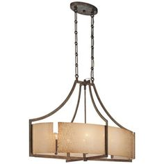 "Clarte Collection 36"" Wide Lace Glass Pendant Chandelier"