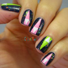 Neon Nested Triangle