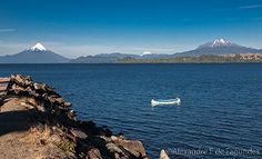 Osorno and Cabulco Vocanoes, Llanquihue lake, Puerto Varas, Chile