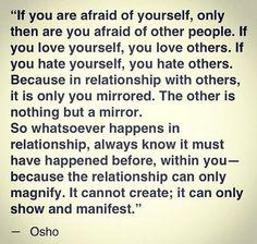 Osho Quotes On Life, Relationship Quotes, Positive Quotes, Relationships, Simple Words, Cool Words, Wise Words, Spiritual Guidance, Spiritual Wisdom
