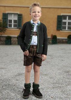 angenehm tragbar perfekte Ergänzung zu Lederhose oder Jeans mit Metallknöpfen grün eingefasst für Buben und Mädchen