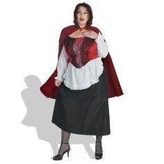 Adult Plus Sized Red Riding Hood Costume