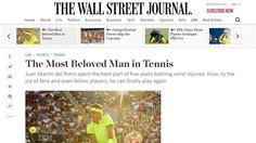 """US Open: """"El hombre más amado del tenis"""", el elogioso artículo de The Wall…"""