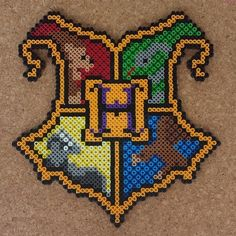 Hogwarts crest - Harry Potter perler beads by halemark.handcrafts