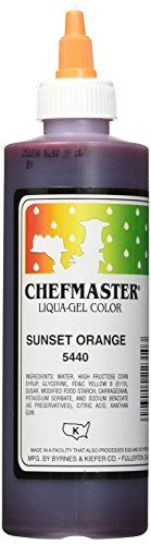 Chefmaster Liqua-Gel Food Color, 10.5-Ounce, Sunset Orange > Instant Savings available here: at baking desserts recipes.