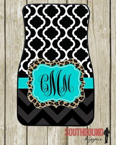 Personalized Car Mats Monogrammed Floor Mats by SouthboundHippie