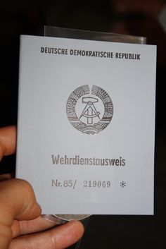 Military identification card of the former DDR. Wehrdienstausweis der ehemaligen…