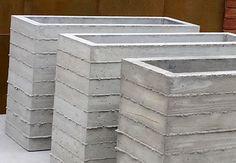 Boardform Planter by Form and Fiber, Inc. Zinc Planters, Modern Planters, Concrete Planters, Flower Planters, Planter Pots, Concrete Bowl, Precast Concrete, Container Plants, Container Gardening