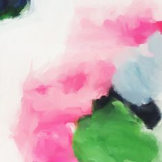 Jenny by Parima Studio // pink green blue abstract painting