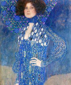 Gustav Klimt Emilie Flöge detail Historical Museum of the City of Vienna Vienna Austria (Art nouveau) Art Nouveau, Pinturas Art Deco, Art Deco Paintings, Painting Art, Klimt Art, Famous Art, Art Plastique, Picasso, Monet