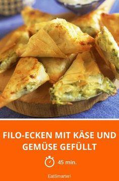 Filo-Ecken mit Käse und Gemüse gefüllt - smarter - Zeit: 45 Min. | eatsmarter.de