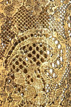 gold lace | Aurélie Bidermann 18-karat gold-dipped lace cuff « Jewelry Trends