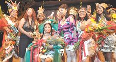 amerindians in guyana | Amerindian Heritage Queen, Nadanie Jerry, is congratulated by ...