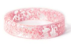 Pink Flower Resin Bracelet