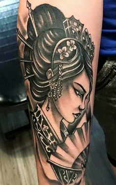 Geisha Tattoo by @livetatt2_305