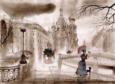 """On the Bridge"" - by SVETLANA GADJIEVA"